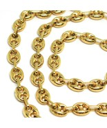 18K YELLOW GOLD SOLID MARINER CHAIN BIG 6 MM, 20 INCHES, ANCHOR ROUNDED ... - $2,350.00