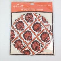 "16 VTG Hallmark 6"" Doilies Thanksgiving Turkey Lace Design Party Decorat... - $10.59"