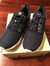 New Michael Kors Amanda Trainer Mesh Embossed-leather Admiral Blue Shoes sz 9.5 - $139.99