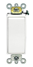 Leviton 5693-2W 15 Amp 120/277V Decora Plus Rocker 3-Way AC Quiet Switch, White - $9.95