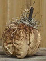 Country STUFFED IVORY PUMPKIN Primitive Rustic Fall Autumn Thanksgiving ... - $19.99