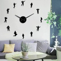 Large Bodybuilding Wall Clock Big Muscles Training Sports Fitness GYM De... - $36.40+