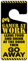 Gamer At Work Go Away Novelty Metal Door Hanger - $12.95
