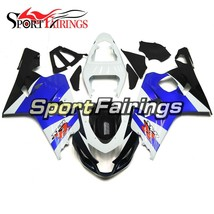 Full Fairings For Suzuki GSXR600 750 K4 2004 2005 Injection ABS Blue Whi... - $383.36