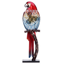 DecoBreeze Parrot Figurine Fan - DBF0338 - $103.99