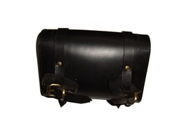 Best Quality Customized Royal Enfield Black Leather Tool Bag For Bsa Mot... - $56.42