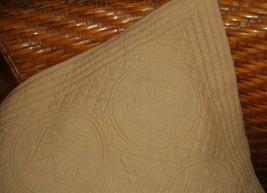 Restoration Hardware 1 Vintage Camel European Quilted Pillow Sham EUC - $24.97