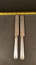 2 Antique silverplate knives Wm Rogers Warranted 12 DWT Wallingford 1884... - $10.00