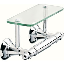 Delta Toilet Paper Holder with Glass Shelf in Polished Chrome HEXTN50-PC - $36.95