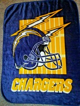 CHARGERS San Diego Team NFL Blanket The Northwest Company Acrylic 45x60 ... - $19.25