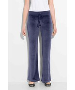 Charter Club Women's Velour Pull-On Pants, Royal Navy NWT Large - $17.28