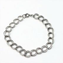 Vintage GJB sterling silver charm bracelet 7 inches 7.3g - $24.74