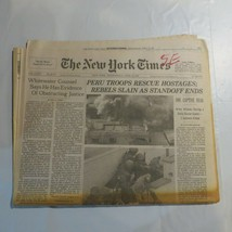 The New York Times 1997 April 23 Peru Troops Hostages Whitewater ND - $39.99