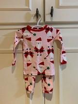 NWOT size 12m infant girl Santa pajamas - $10.89