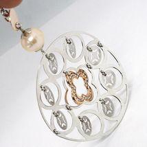 Collier Argent 925, Perles Rose, Médaillon Pendentif,Travaillé,Disque image 6