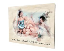 Girls on the Beach Memories Won't Fade of Yesterday 16x20 Aluminum Wall Art - $59.35
