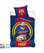 FC Barcelona Pique Funda Edredón Individual Cojín Fútbol Del Club Equipo... - $33.08