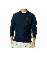Champion Men's Reverse Weave Fleece Crew Neck Sweatshirt NEW AUTHENTIC Navy GF70 - $39.99