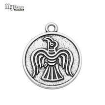 my shape antique silver plated vintage pendants swallow seagull animal w... - $9.98