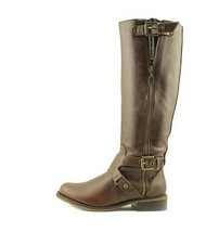 G by Guess Women's Hertlez Knee High Round Toe Boots in Medium Brown Size 5.5 - $54.44