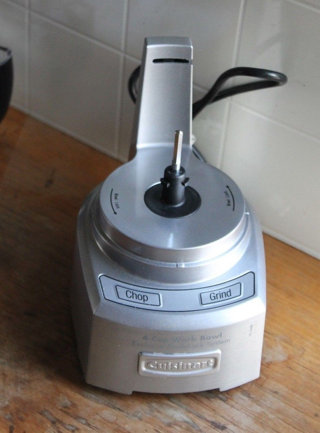 CUISINART MINI PREP 4-CUP FOOD PROCESSOR BRUSHED STAINLESS BASE CH-4DC CHOPPER