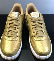 new nike air force 1 lv 8 metallic gold sneakers low youth 820438-700 sz... - $93.50