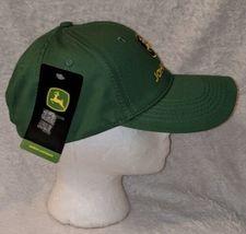 John Deere LP16930 Green Adjustable BaseBall Cap With Leaping Deer Logo image 3