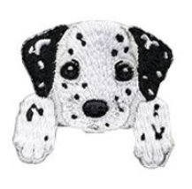 "Dalmatian Dog Embroidered Patch - 1 1/2 x 1 1/2"" Shipped from USA - $4.90"