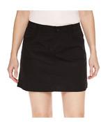 St. John's Bay Black Cotton Blend Skort Size 4, 6, 8, 10, 12, 14, 16 - $21.99