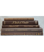 Brown Decorator Books with Gold Titles and Lettering - Set of 5 Books Ha... - $24.95