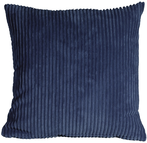 Primary image for Pillow Decor - Wide Wale Corduroy 22x22 Dark Blue Throw Pillow