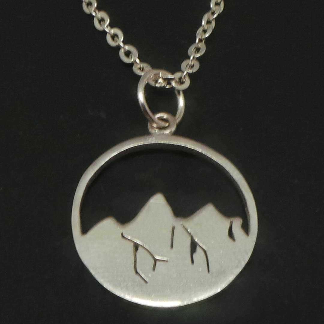 925 Sterling Silver Mountain Necklace