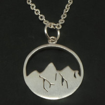 925 Sterling Silver Mountain Necklace  - $52.00