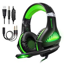 TURN RAISE Upgraded 3.5mm Stereo Gaming Headset for Xbox One, PS4, PC - (Green) - $32.26