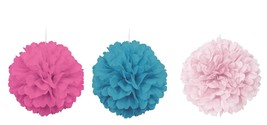 40cm Soild Colour Puff Ball Pom Pom Hanging Party Decoration - Pink - Blue - $2.51
