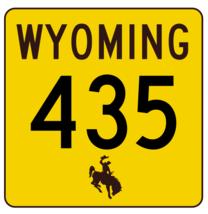 Wyoming Highway 435 Sticker R3544 Highway Sign - $1.45+