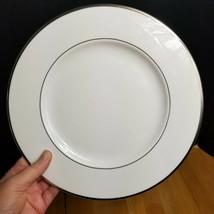 Mikasa Cameo Platinum Dinner Plate HK301 White with Platinum Trim & Verge - $7.91