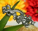 Vintage chinese imperial dragon serpent brooch pin silver figural thumb155 crop