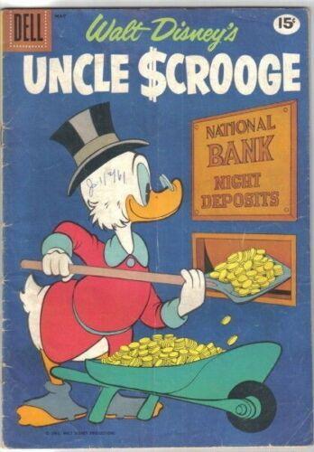 Walt Disney's Uncle Scrooge Comic Book #33 Dell Comics 1961 VERY GOOD+