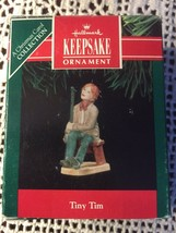 Hallmark Christmas Carol Keepsake Tiny Tim Porcelain Handpainted QX503-7 1991 - $48.15