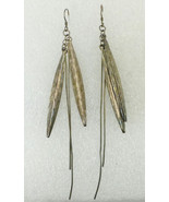 Native American Long FEATHERS Sterling Silver Vintage EARRINGS - 4 inche... - €53,69 EUR