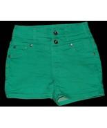 Justice Green Denim Shorts Size 12R 12 Regular - $9.49