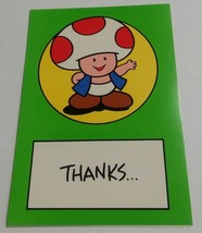 "Vintage Super Mario Brothers Greeting Card Nintendo 1989 Toad ""Thanks Fr... - $9.99"