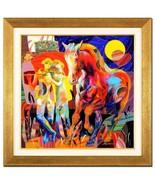 """Tadeo Zavaleta-""""Mirada de Amor""""-ORIGINAL OIL Painting/Canvas/Framed/Sign... - $3,016.25"""