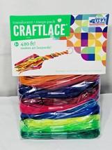 Craftlace 420 Ft Translucent String Lace Mega Pack Craft Art Lanyard Col... - $13.37