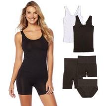 Yummie Seamless Wardrobe Essentials 5-piece in White/Black, 1X/2X (607701) - $44.54