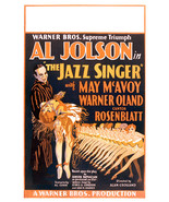 Al Jolson and May McAvoy in The Jazz Singer 24x18 Poster - £18.34 GBP