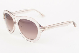 Tom Ford ISLA 514 74S Transparent / Brown Sunglasses TF514 74S 56mm - $185.22