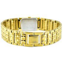 Seiko 1N00-6C09 Gold Tone Stainless Rectangle Diamond Accent Quartz Wristwatch image 5