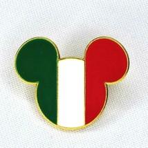 Country Flag Icon Walt Disney Pin Mickey Head Ears Italy Italian Pinback 2008 - $5.86